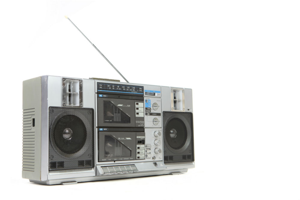 Boombox with External Antenna Jack