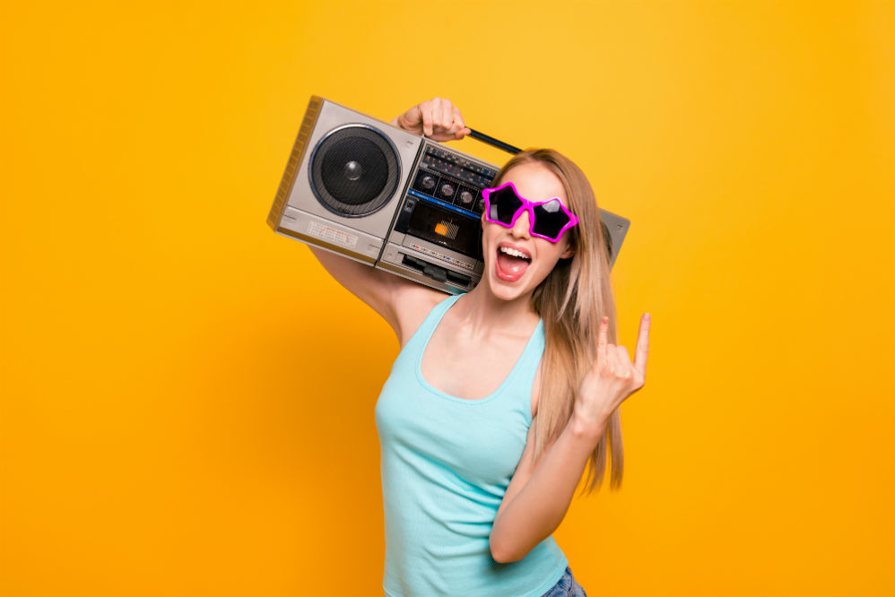 Boombox on Shoulder: The Quintessential 80s Trend